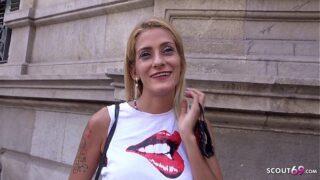 GERMAN SCOUT – SKINNY BLONDE LATINA GIRL GABRIELA PICKUP AND FUCK AT STREET CASTING